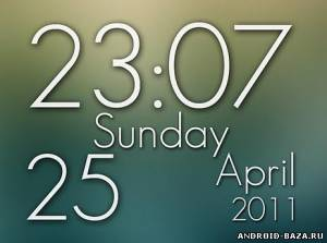 Super Clock Wallpaper Pro — Виджет
