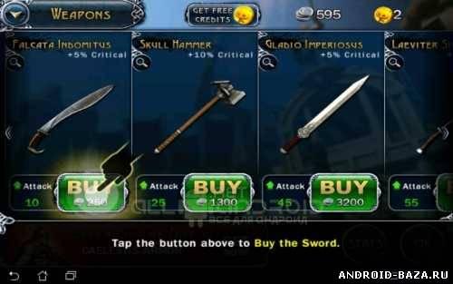 Скриншот Blood & Glory — Бои Гладиаторов на планшет
