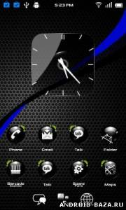 скриншот ADW Theme HD Crystal Black Ball