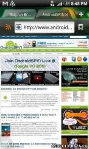 Dolphin Browser HD на планшет