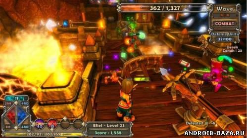 Скриншот Dungeon Defenders — Бесплатная Онлайн RPG Игра на планшет