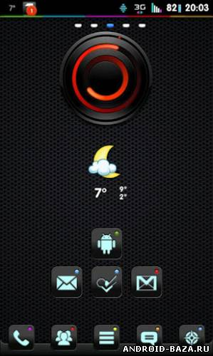Theme Noctua GO Launcher EX — Черная Тема андроид