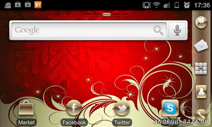 Скриншот Gold Xmas Theme на планшет
