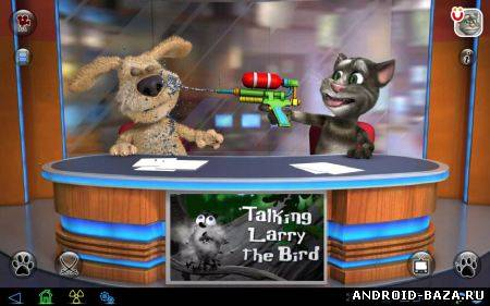 Скриншот Talking Tom & Ben News на планшет