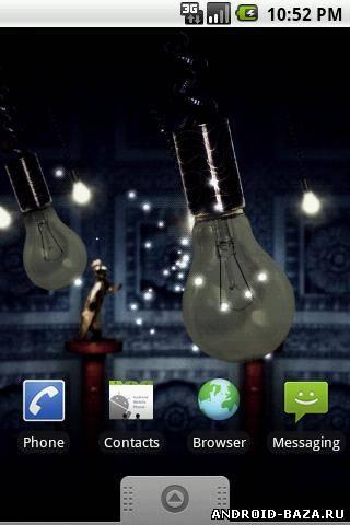 Скриншот Fireflies Live Wallpaper v.1.2.0 на планшет