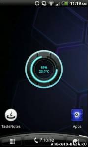 Battery Disc — Виджет заряда Батареи на планшет