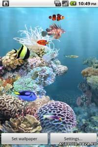 aniPet Aquarium Live Wallpaper v2.5 — Аквариум на телефон