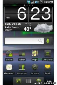 Nexus S Gingerbread. Скриншот 1