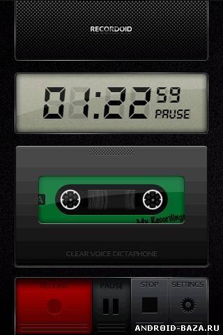 Recordoid Dictaphone 4.0 - Диктофон андроид