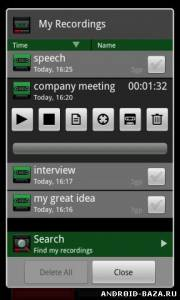 Recordoid Dictaphone 4.0 - Диктофон на телефон