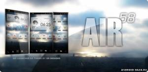 AIR 58 Go Launcher EX Theme на телефон