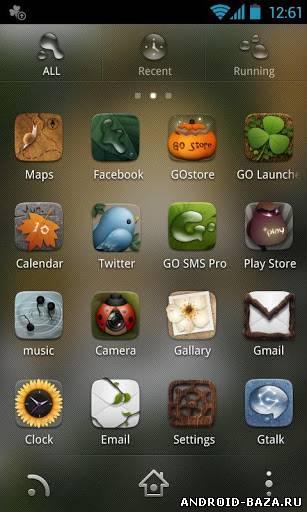 Скриншот Dryad GO Launcher EX Theme на планшет