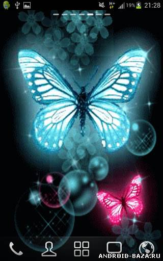 Картинка Glitter Butterflies Wallpaper - Бабочки на телефон