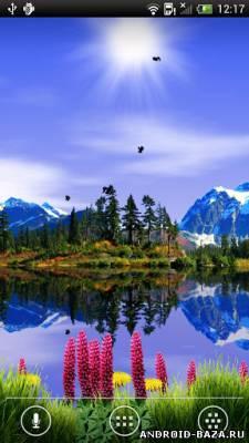 Mountain Lake Live Wallpaper. Скриншот 2