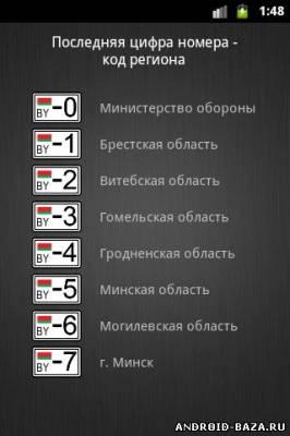 Все коды регионов на планшет