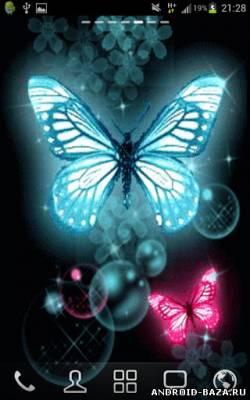 Glitter Butterflies Wallpaper - Бабочки на телефон