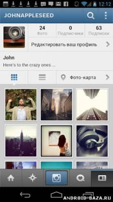 Instagram — Инстаграм на планшет