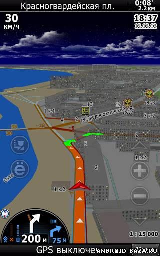 Скриншот CityGuide7 GPS навигатор на планшет