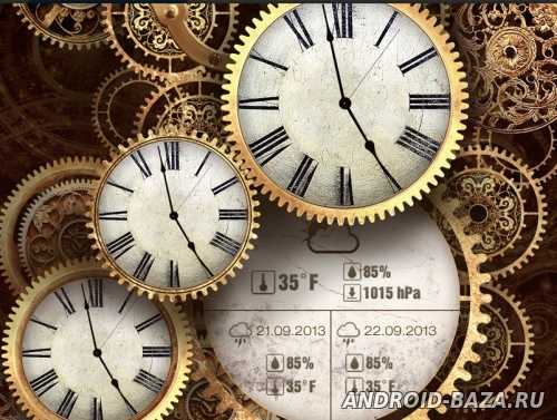 Gold Clock Live Wallpaper андроид