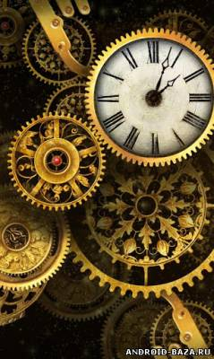 Gold Clock Live Wallpaper на телефон