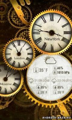 Gold Clock Live Wallpaper на планшет