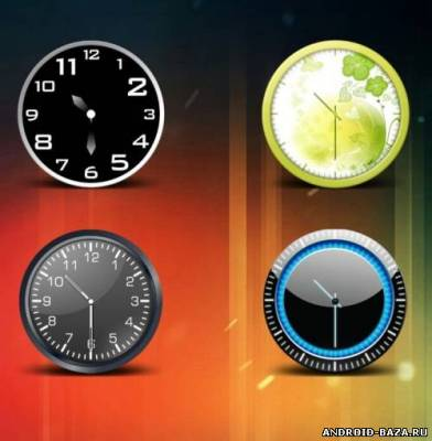 HD Beautiful Clock Widgets Pro на телефон