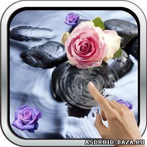 Роза на воде живые обои