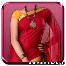 Woman Saree Photo Montage