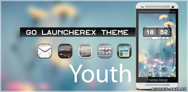 Youth GO Launcher Theme андроид