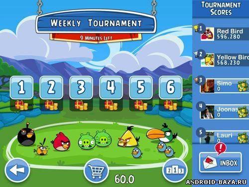 Скриншот Angry Birds Friends на планшет