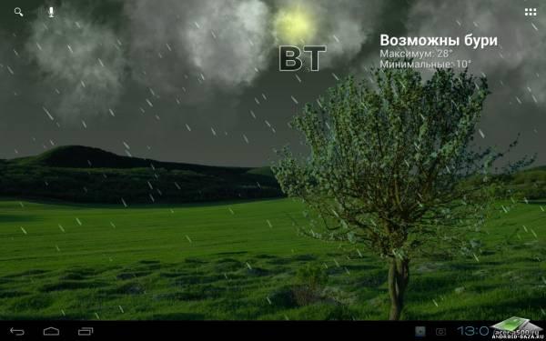 True Weather LWP, погода на планшет